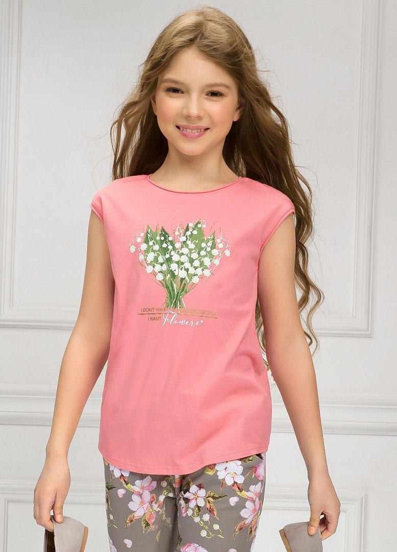 6f9c7b880aa GFT4052 1 футболка для девочек - Детская и женская одежда Пеликан ...