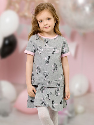 bfbe726f0aae GFDT3077 платье для девочек. GFDT3077 розовый(37) GFDT3077 серый(40)  GFDT3077 1